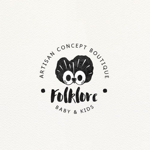 Artisan design with the title 'Vintage logo for kids products'