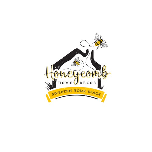 Green home logo with the title 'Honeycomb'