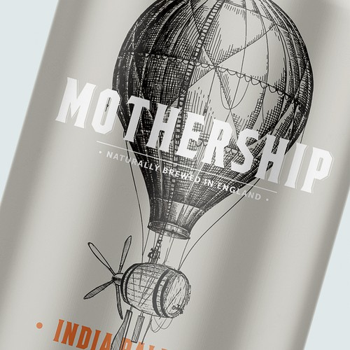 Traditional packaging with the title 'Mothership IPA Beer'