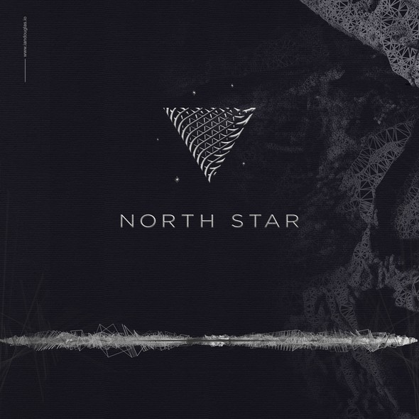Oil design with the title 'Shimmering mark for NorthStar'