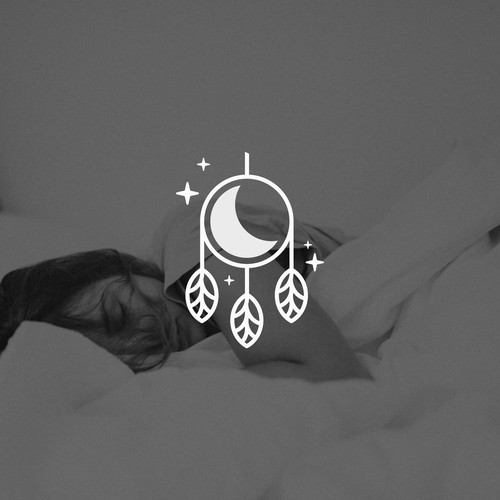 Moon design with the title 'Natural Dream Catcher'
