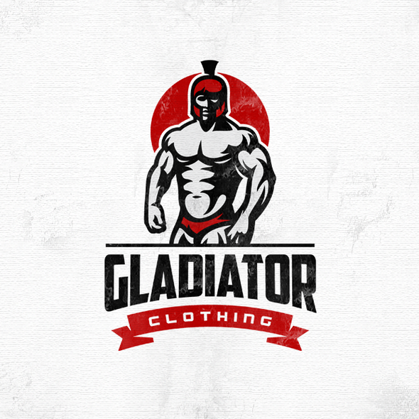 Bodybuilding logo with the title 'Gladiator'