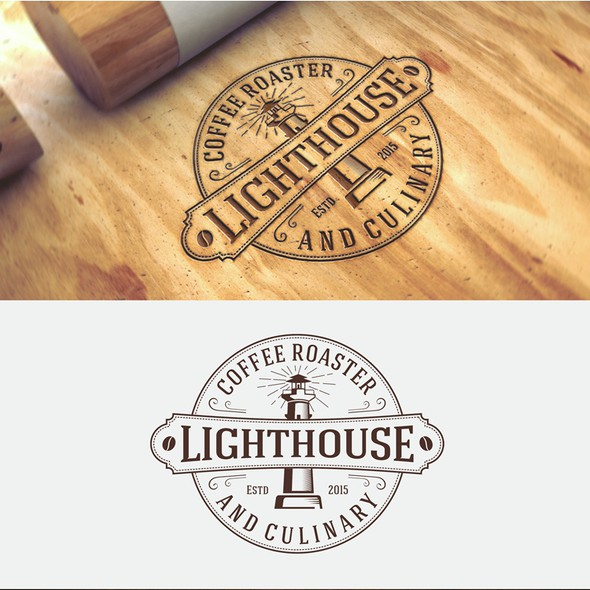 Coffee bar design with the title 'Logo maker for specialty coffee shop'