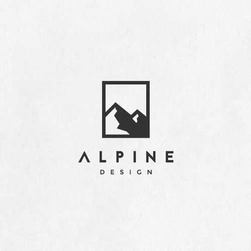 Mountain brand with the title 'Alpine Design'
