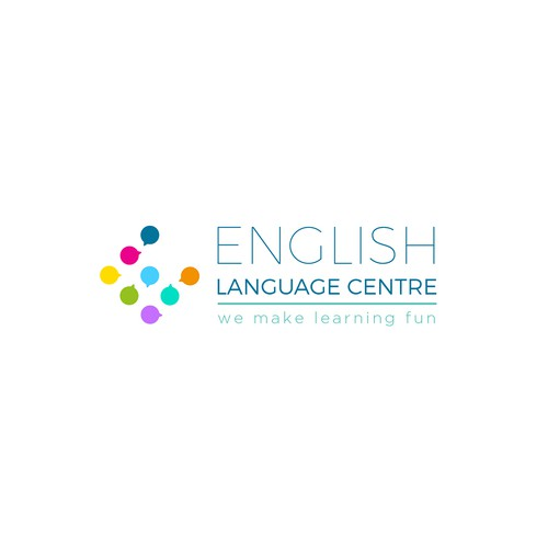Language design with the title 'Logo for a  new English language school based in France'