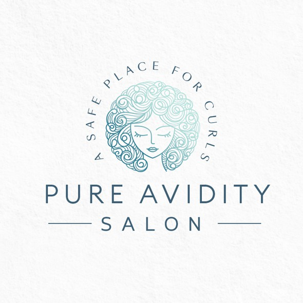 Stylist logo with the title 'Curly Hair Logo'
