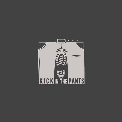 Motivational logo with the title 'Kick in the pants'
