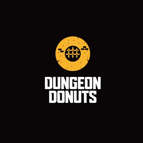 Donut logo with the title 'Logo for donut shop'
