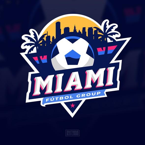 Miami logo with the title 'MIAMI FUTBOL GROUP'