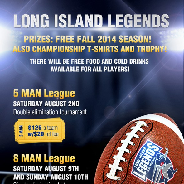 Sign up design with the title 'Summer Flag Football Tournament - Flyer'