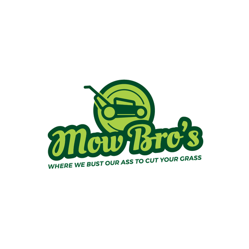 Lawn care logo with the title 'Fun logo concept for lawn company'