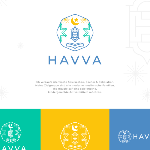 Oriental logo with the title 'Havva : Islamic Shop'