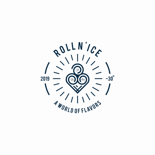 Roll logo with the title 'ROLL N'ICE'