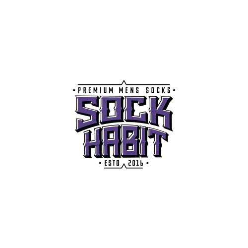 Sock logo with the title 'Sock Habit Sock Co.'