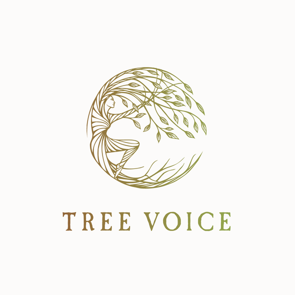 Body design with the title 'Hand drawn logo design for a person connected to the tree :)'