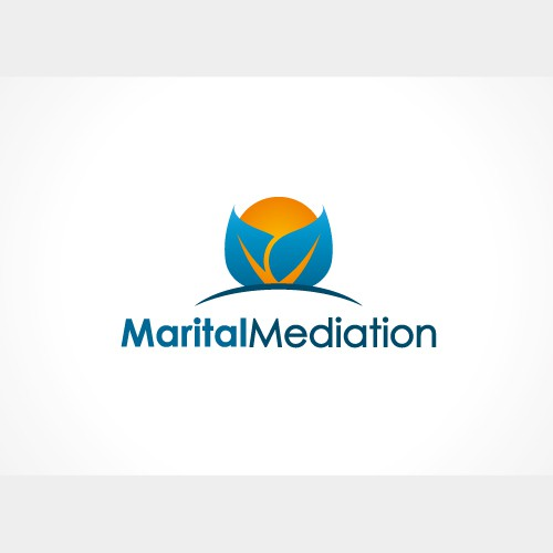 Marriage logo with the title 'Marital Mediation Logo'