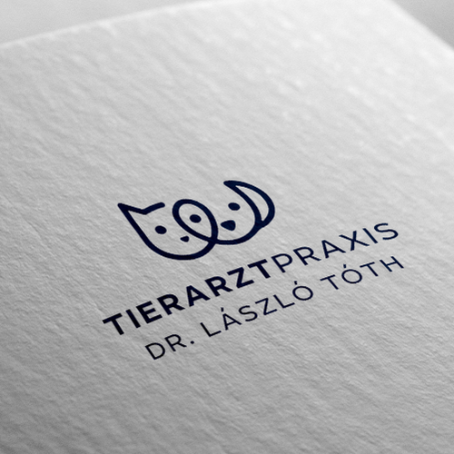 Veterinary logo with the title 'Tierarztpraxis'