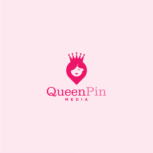 Crown brand with the title 'Simple logo concept for queenpin media'