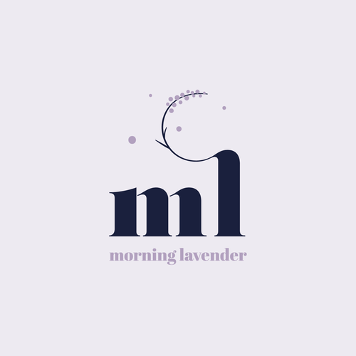Lavender logo with the title 'Modern Letter-mark Logo for Fashion Boutique'