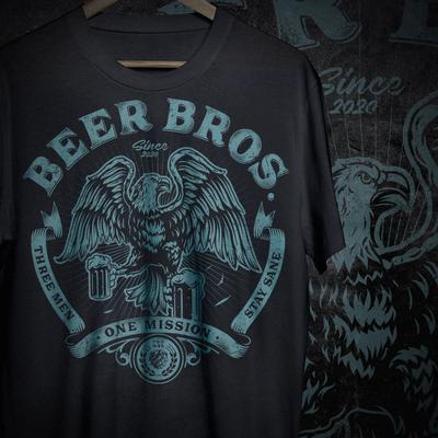 T恤设计为啤酒兄弟