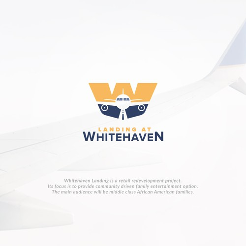 W logo with the title 'W landing Plane'