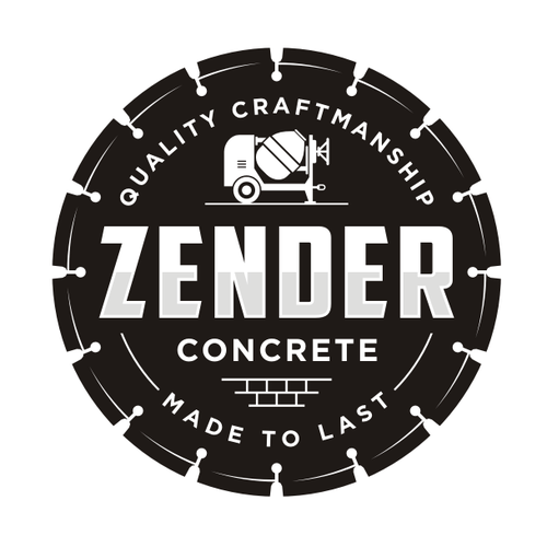 Concrete design with the title 'Zender'