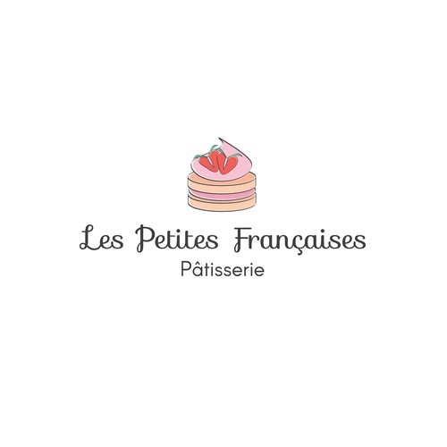 Strawberry logo with the title 'Logo for a French bakery'