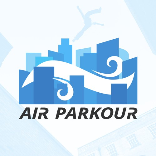 Parkour design with the title 'Logo concept for freerun\parkour movement'