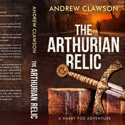 Action book cover with the title 'The Arthurian Relic'