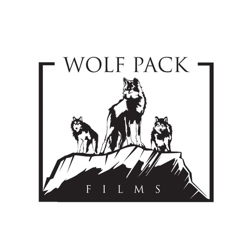 Wildlife design with the title 'New logo wanted for Wolf Pack Films'