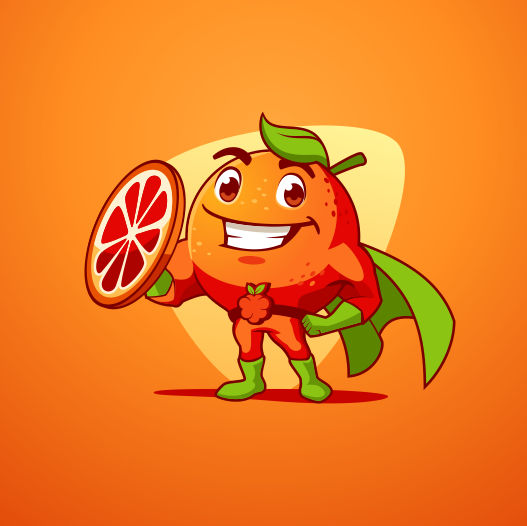 Orange artwork with the title 'Blood Orange'