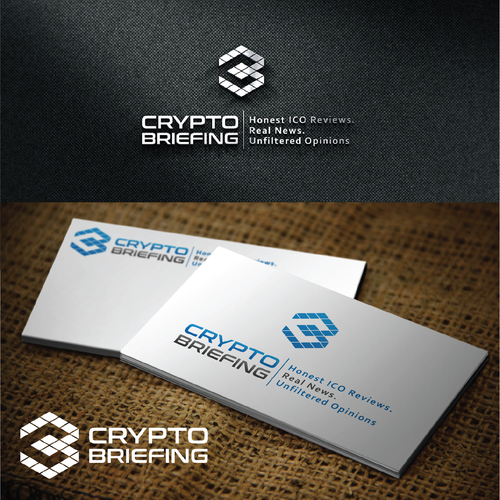 Crypto brand with the title 'Strong Logo proposal for Cryptobriefing'