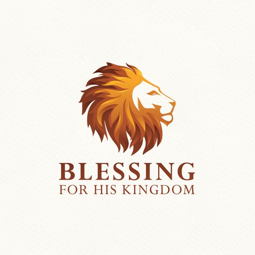 Gradient logo with the title 'Blessing for His Kingdom '