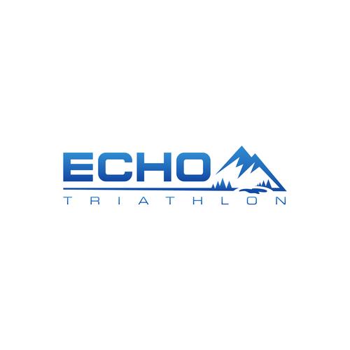 Triathlon design with the title 'Update Logo for Echo Triathlon'