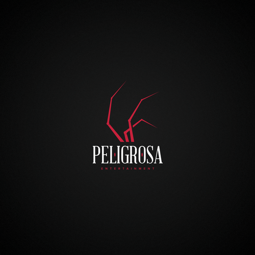 Creepy logo with the title 'Peligrosa'