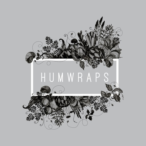 Fresh food logo with the title 'Logo and label design for Humwraps, reuseable planet friendly food wrapping cloth '