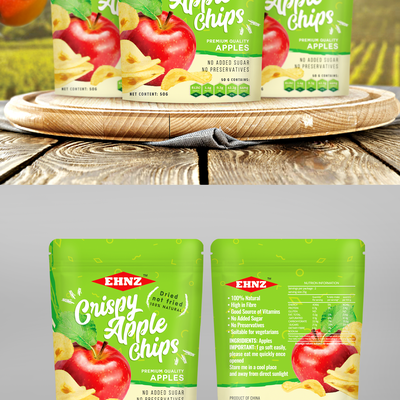 Apple chips pouch design