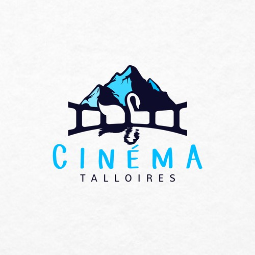Goose design with the title 'Cinema Talloires needs an eye catching logo'