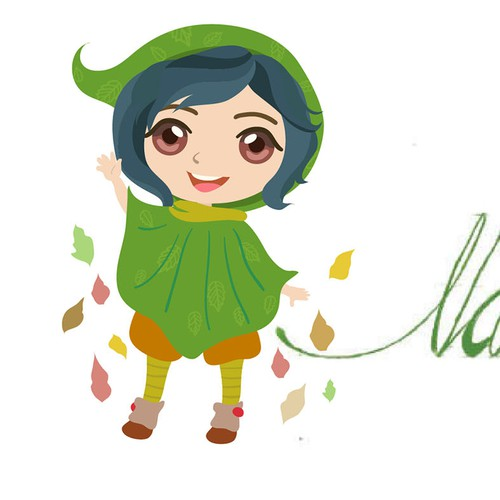 Chibi design with the title 'Character little gnome design'