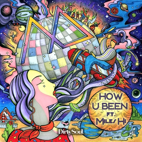 CD cover illustration with the title 'How U Been'