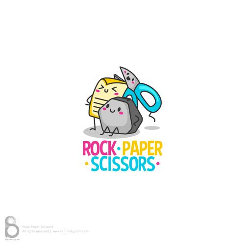 Scissors design with the title 'Logo for a kids school accessories brand - Rock Paper Scissors'