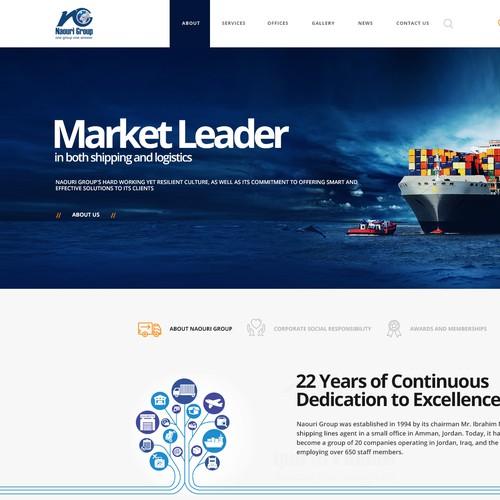 Logistics design with the title 'Logistic Company'
