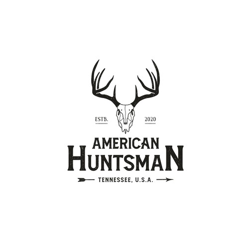 Buck logo with the title 'Deer hunter logo concept'