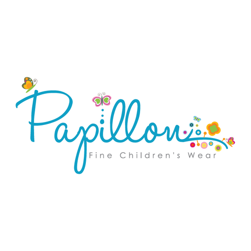 Blossom logo with the title 'whimsical cute children logo'