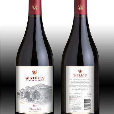 Classy wine label design