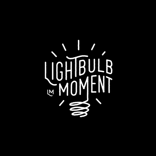 Bright idea logo with the title 'Lightbulb Moment'