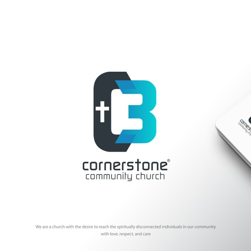 Stone design with the title 'C3 community Logo'