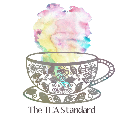 Teacup design with the title 'Logo concept for The TEA Standard Alternative'