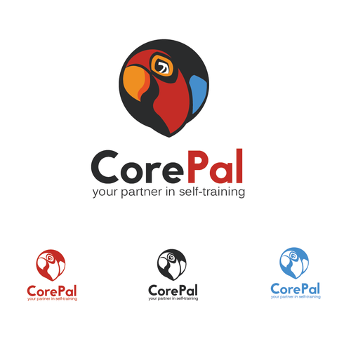 Parrot logo with the title 'Logo concept for sport industry'