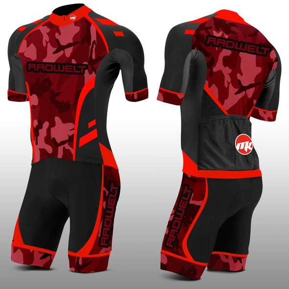 Cycling kit design with the title 'Radwelt Cycling kit'
